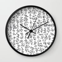 code Wall Clocks featuring Code by nefos