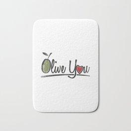 Olive You Gift Bath Mat