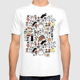 Kawaii Ghibli Doodle T-shirt