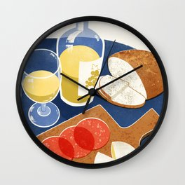 Charcuterie and Wine Wall Clock