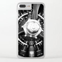 T-28B Trojan Close-Up Clear iPhone Case