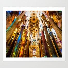 Sagrada Familia Art Work Art Print