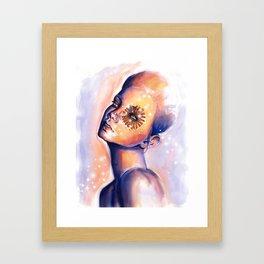 Blue Swan Framed Art Print