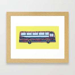 Bermuda Bus Framed Art Print