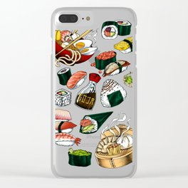 Sushi White Clear iPhone Case