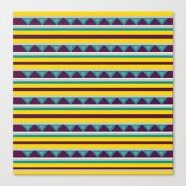 Triangles & Stripes Pattern Canvas Print