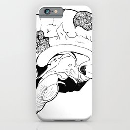 Splotched Brain iPhone Case