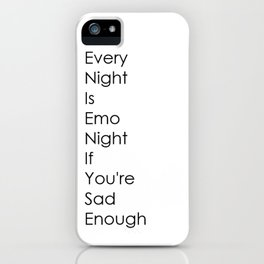 Emo Night iPhone Case