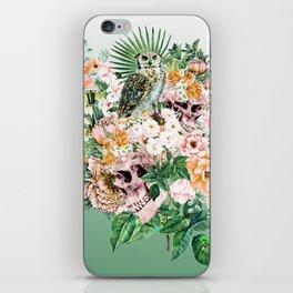 Interpretation of a dream - Owl with Skulls iPhone Skin