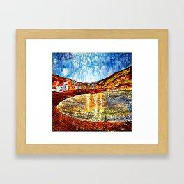 landskape-lake-fishing-oldtown Framed Art Print