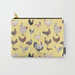 Chicken Happy (yellow) Carry-All Pouch