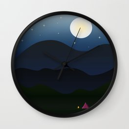 The joys of the great outdoors Wall Clock