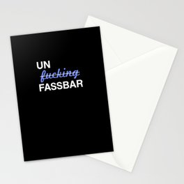 Un-effin-fassbar Stationery Cards