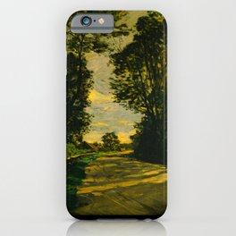 Claude Monet Impressionist Landscape Oil Painting Walk (Road of the Farm Saint-Siméon) 1864 iPhone Case