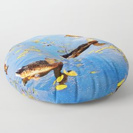 Ducks on a Pond Floor Pillow