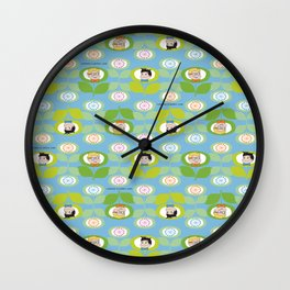 mabo & jimmy garden - blue Wall Clock