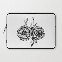 Two Inked Flowers Laptop Sleeve