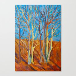 Naked Trees - Original Oil on Canvas Painting Canvas Print