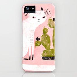 CAT & CACTUS iPhone Case