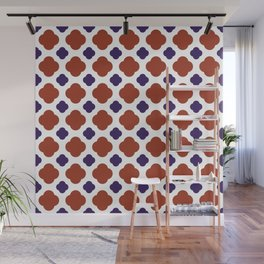 QUATREFOIL, RED AND BLUE Wall Mural