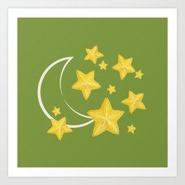 moon and star fruit Art Print