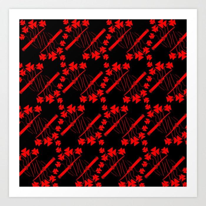 Switchblades & Shamrocks Art Print by revpirate