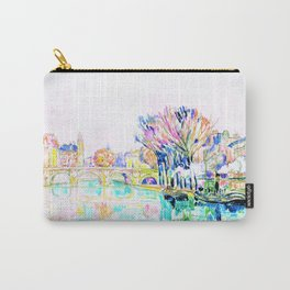 12,000pixel-500dpi - Paul Signac - The Pont Neuf, Paris - Digital Remastered Edition Carry-All Pouch