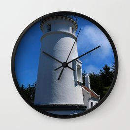 Lighthouse on Winchester Bay Wall Clock