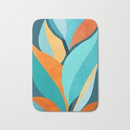 Abstract Tropical Foliage Bath Mat