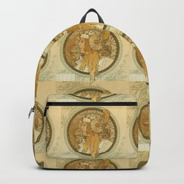 "Alphonse Mucha ""Byzantine Head: The Blonde"" Backpack"