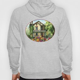 Victorian Eclectic with Spring Tulips Hoody
