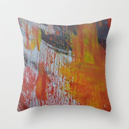 Abstract Paint Swipes Throw Pillow