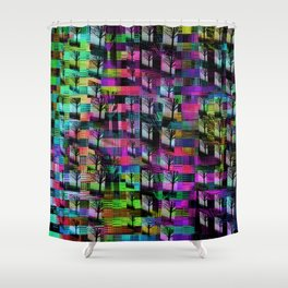 Tree Apartments Shower Curtain