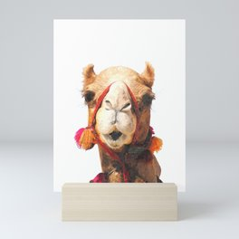 Camel Portrait Mini Art Print