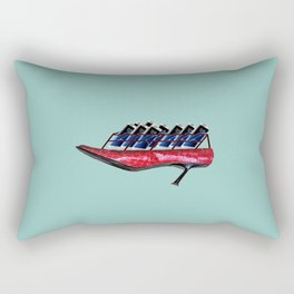 Flying shoes with cellphones for May - shoes stories Rectangular Pillow