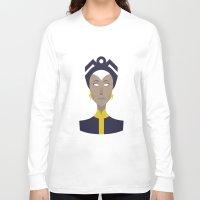 x men Long Sleeve T-shirts featuring Storm X-Men Portrait by Craig Anthony Design