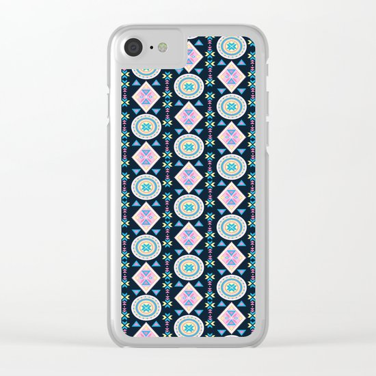 Dancing Diamonds By Everett Co Clear iPhone Case