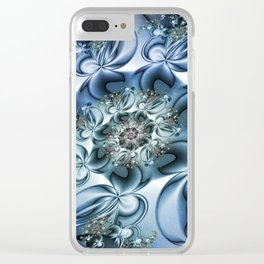 Dynamic Spiral, Abstract Fractal Art Clear iPhone Case