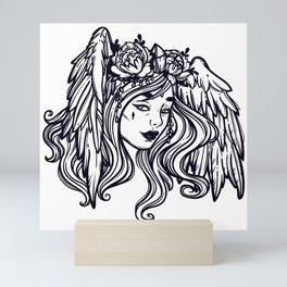 flying head.Gamayun.Sirin.Alconost. Mini Art Print