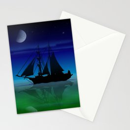 Sailing On A Sea of Green. Stationery Cards