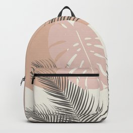 Minimal Monstera Palm Finesse #4 #tropical #decor #art #society6 Backpack