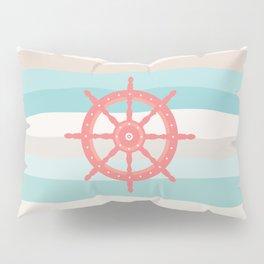 AFE Coral Helm Wheel, Nautical Art Pillow Sham