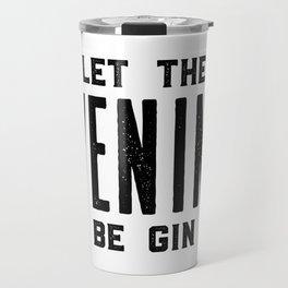 HOME BAR DECOR, Let The Evening Be Gin,Funny Bar Decor,Alcohol Sign,Drink Sign,Bar Wall Art Travel Mug