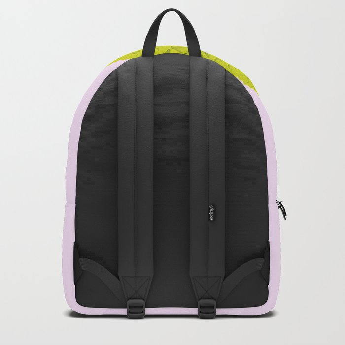 Bright Green Leaf On A Pink Background #society6 #buyart Backpack