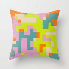 pixel 002 03 Throw Pillow