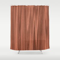 wooden Shower Curtains featuring Wooden Structure  by MehrFarbeimLeben