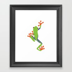 Green Tree Frog Framed Art Print