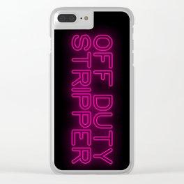 Off Duty Stripper Clear iPhone Case