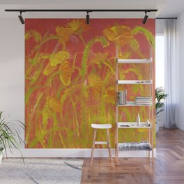 Red Hot Poppies Wall Mural