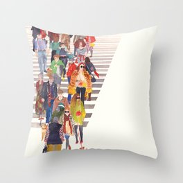 Zebra crossing Throw Pillow
